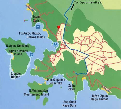 Sivota Map Beaches